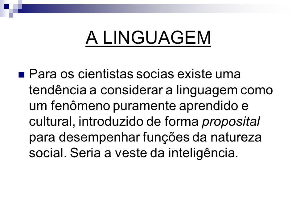 ALGUMAS QUESTÕES RELEVANTES Vejamos alguns questionamentos que nos levam a analisar a linguagem como fenômenos biológicos: 1.
