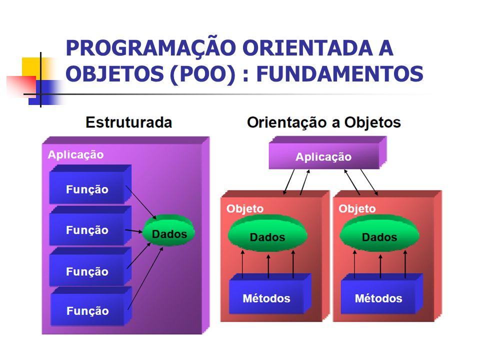 PROGRAMAÇÃO ORIENTADA A OBJETOS (POO) : FUNDAMENTOS