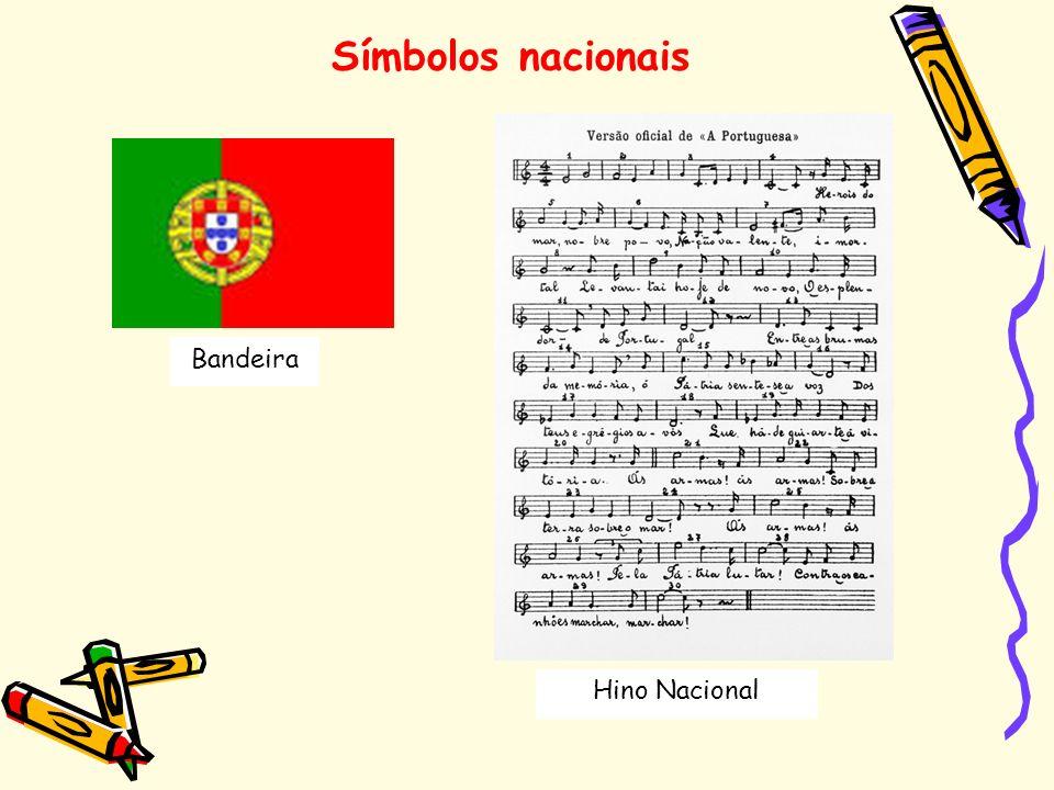 Símbolos nacionais Bandeira Hino Nacional