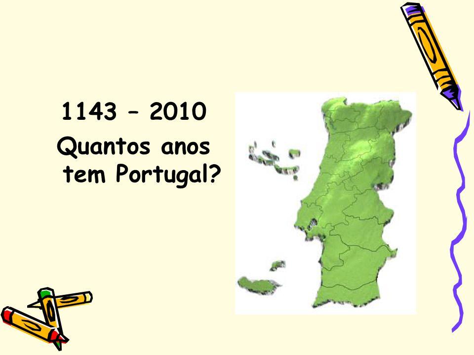1143 – 2010 Quantos anos tem Portugal?