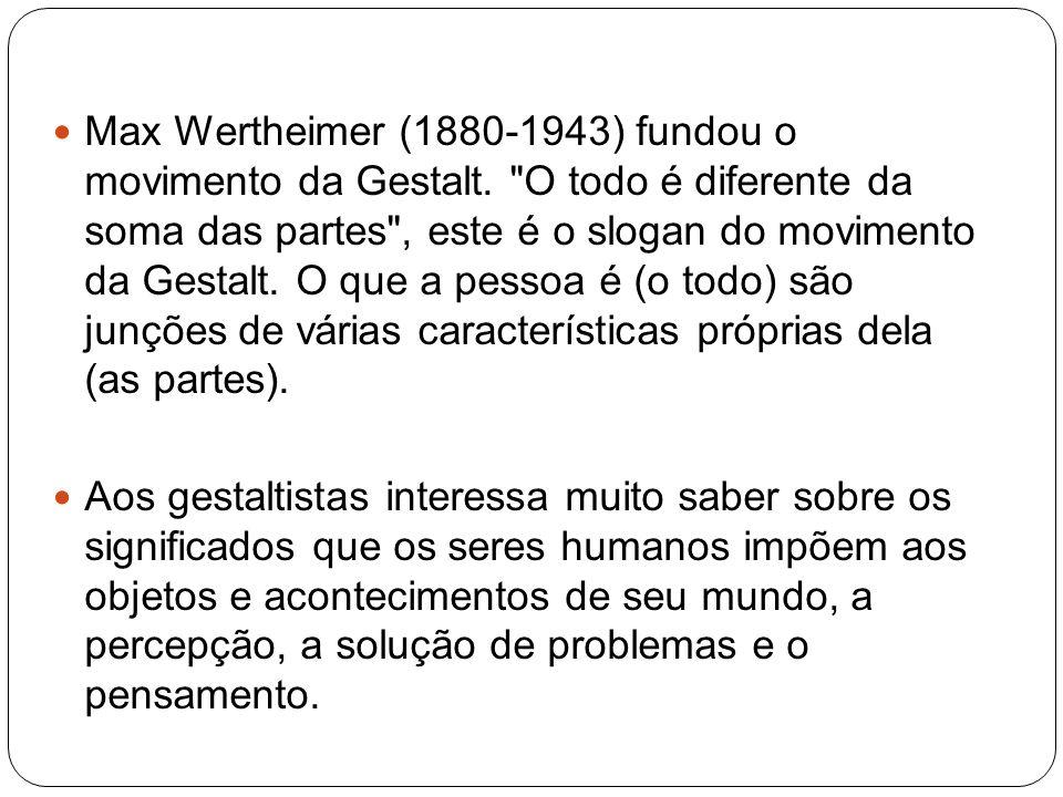 Max Wertheimer (1880-1943) fundou o movimento da Gestalt.