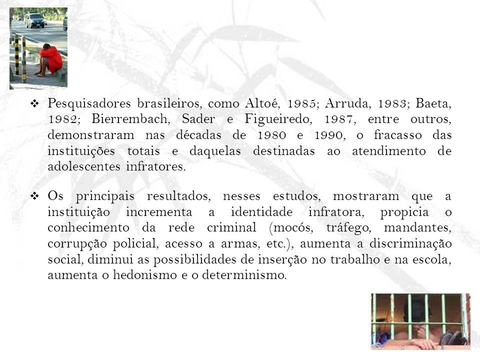 Pesquisadores brasileiros, como Altoé, 1985; Arruda, 1983; Baeta, 1982; Bierrembach, Sader e Figueiredo, 1987, entre outros, demonstraram nas décadas