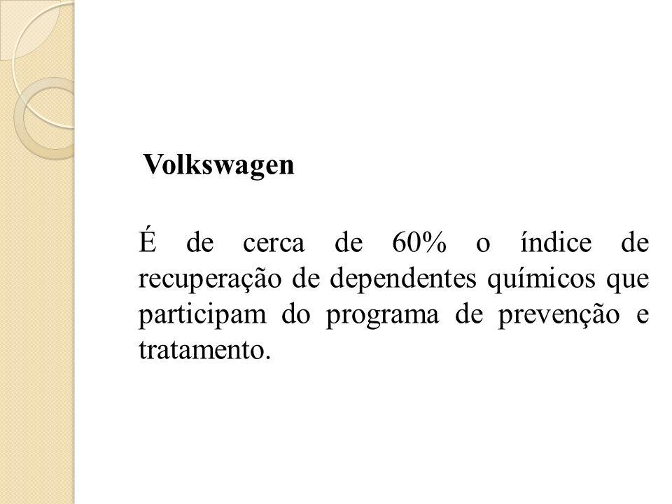 Volkswagen É de cerca de 60% o índice de recuperação de dependentes químicos que participam do programa de prevenção e tratamento.