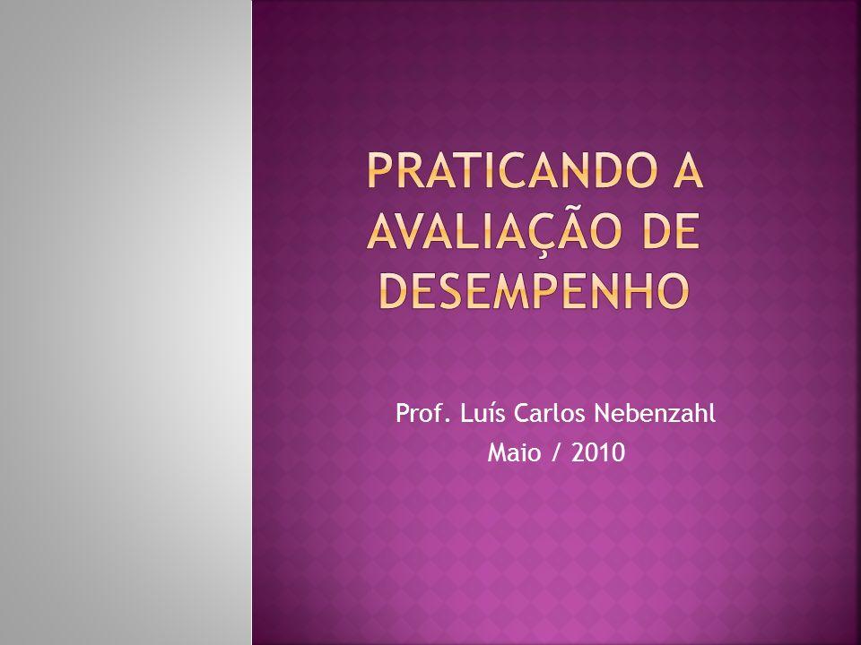 Prof. Luís Carlos Nebenzahl Maio / 2010
