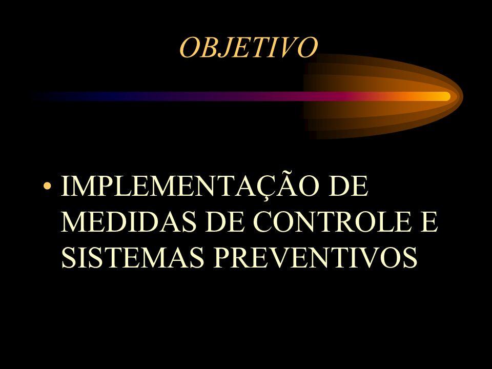 OBJETIVO IMPLEMENTAÇÃO DE MEDIDAS DE CONTROLE E SISTEMAS PREVENTIVOS