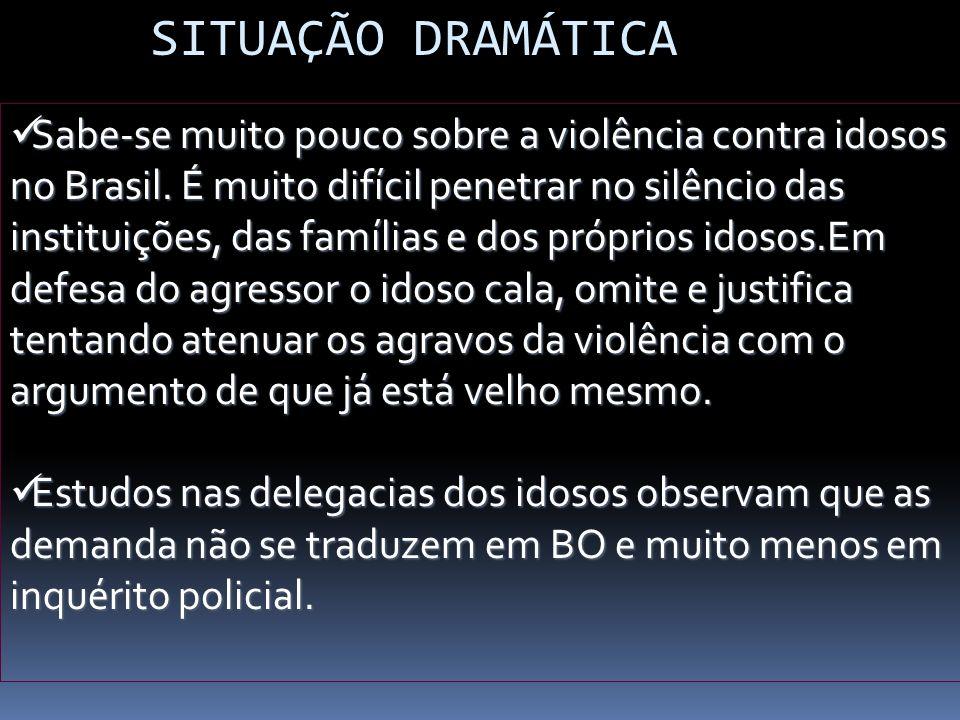 Sabe-se muito pouco sobre a violência contra idosos no Brasil. É muito difícil penetrar no silêncio das instituições, das famílias e dos próprios idos