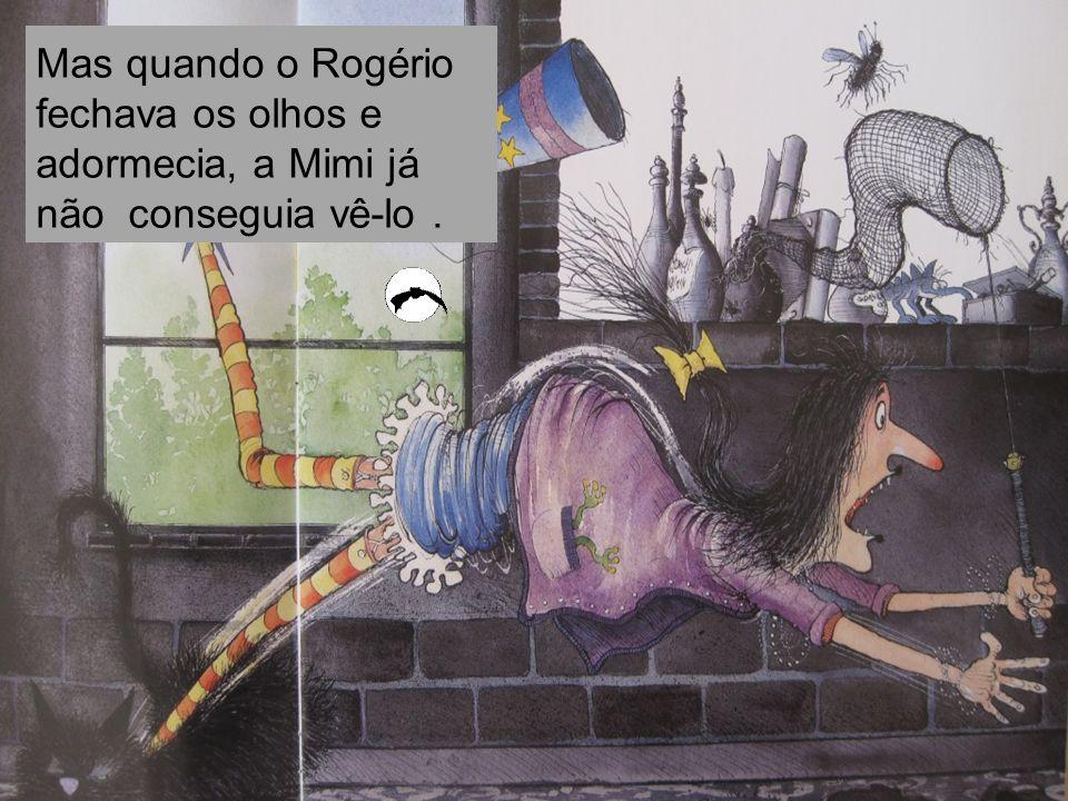 Mas quando o Rogério fechava os olhos e adormecia, a Mimi já não conseguia vê-lo.