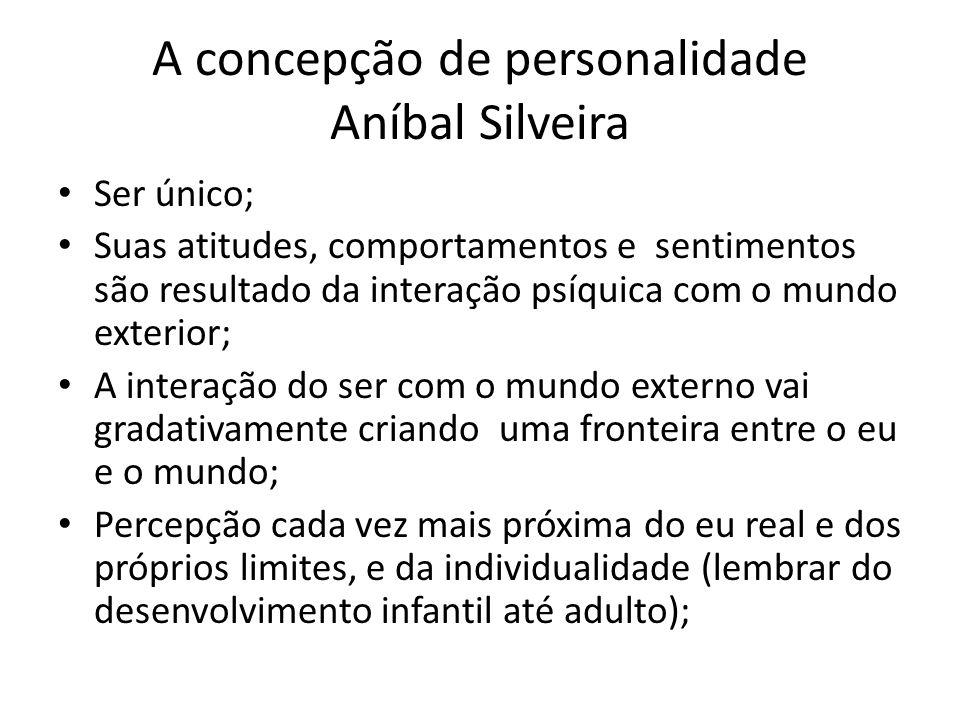 A concepção de personalidade Aníbal Silveira Ser único; Suas atitudes, comportamentos e sentimentos são resultado da interação psíquica com o mundo ex