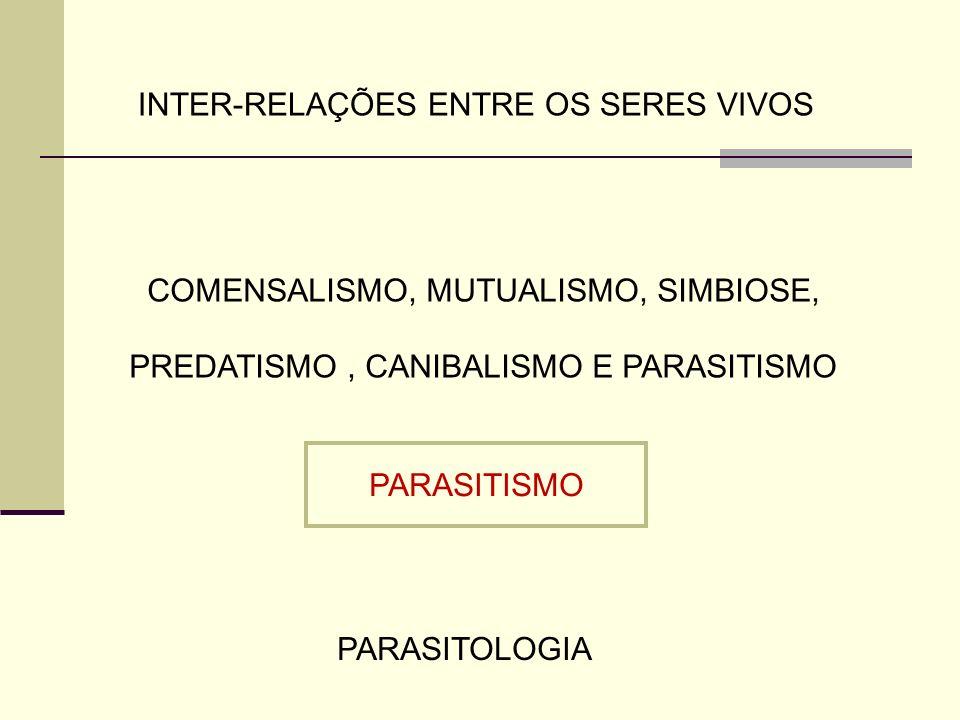 ASSOCIAÇAO DESARMÔNICA PARASITISMO Associação entre seres vivos com unilateralidade de benefícios tende para o equilíbrio entre parasito e hospedeiro Por quê casos graves ou epidemias de parasitoses????.