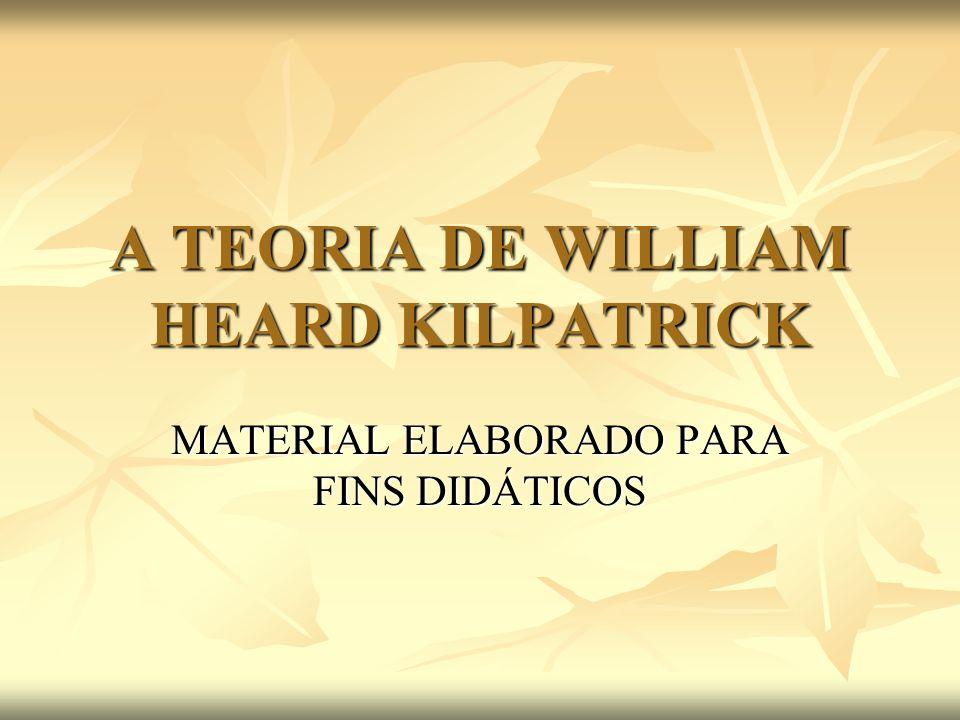 A TEORIA DE WILLIAM HEARD KILPATRICK MATERIAL ELABORADO PARA FINS DIDÁTICOS