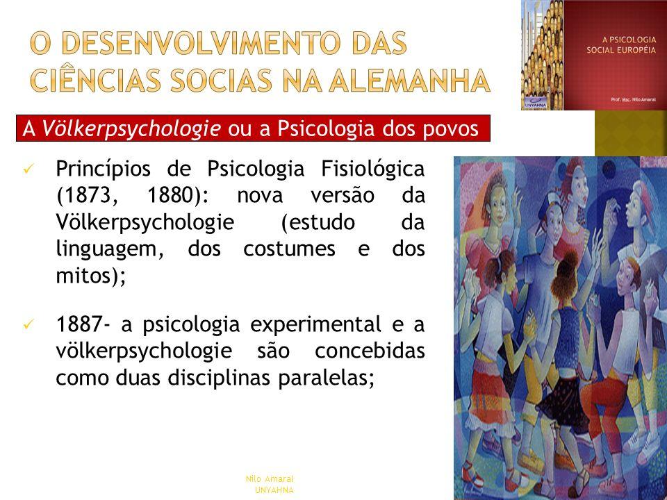 A Völkerpsychologie ou a Psicologia dos povos Princípios de Psicologia Fisiológica (1873, 1880): nova versão da Völkerpsychologie (estudo da linguagem