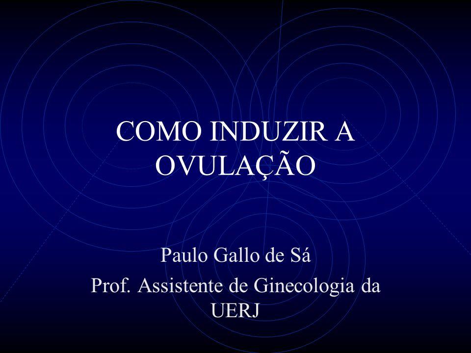 COMO INDUZIR A OVULAÇÃO Paulo Gallo de Sá Prof. Assistente de Ginecologia da UERJ