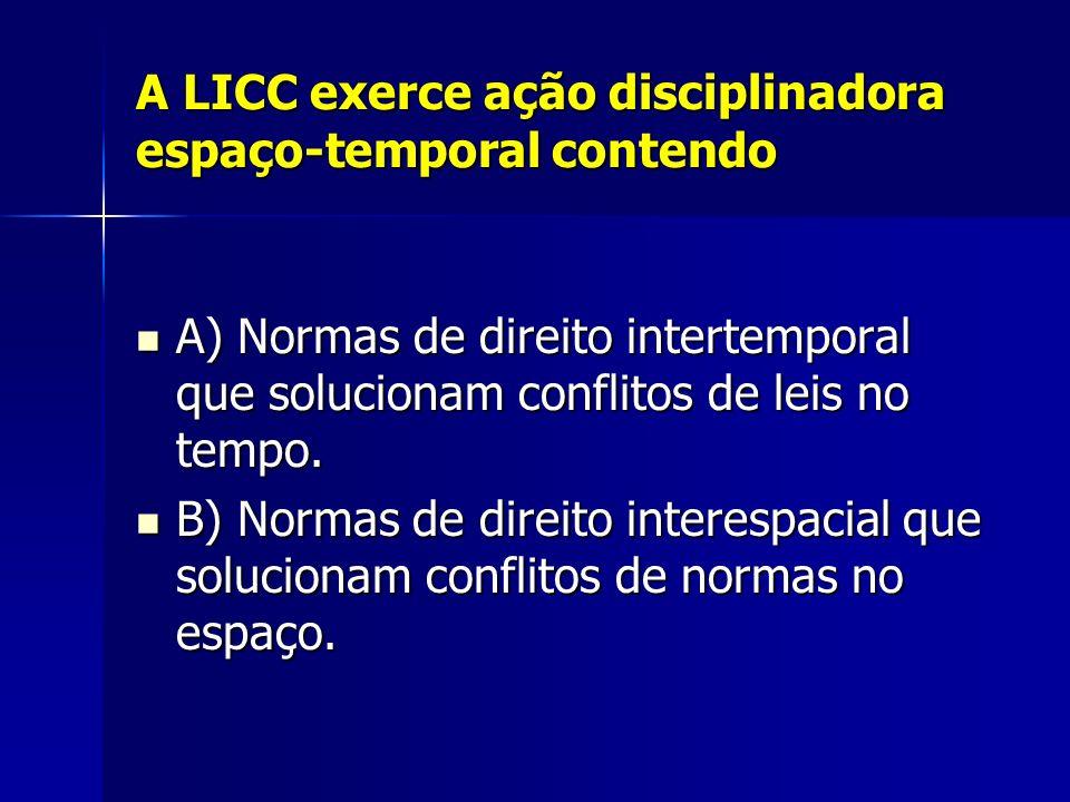 Natureza da LICC A LICC não é parte integrante ao Código Civil.