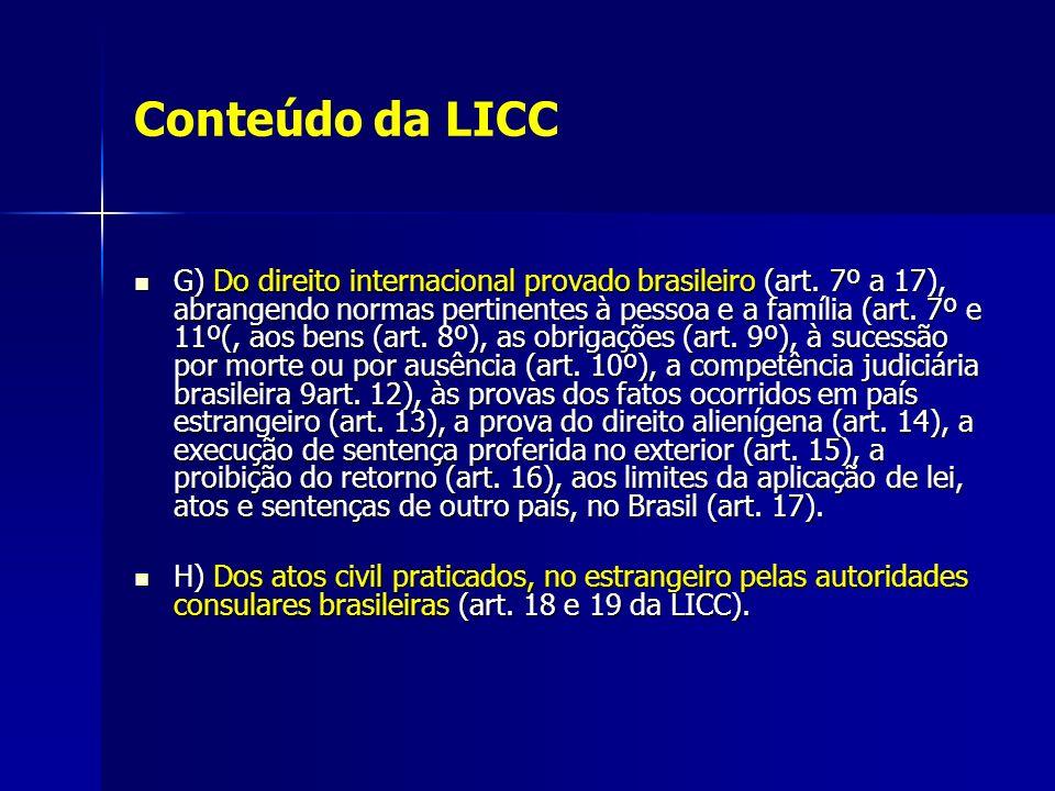 A lei de Introdução em relação aos conflitos de leis no tempo Em relação aos conflitos de leis no tempo a LICC aponta soluções para os seguintes problemas: