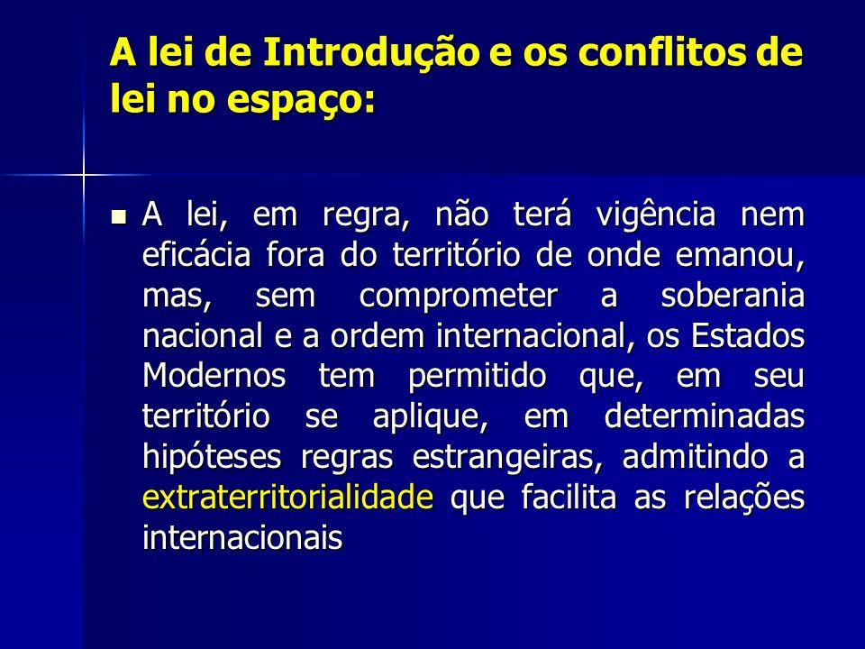 A regra é a territorialidade, a exceção é da extraterritorialidade