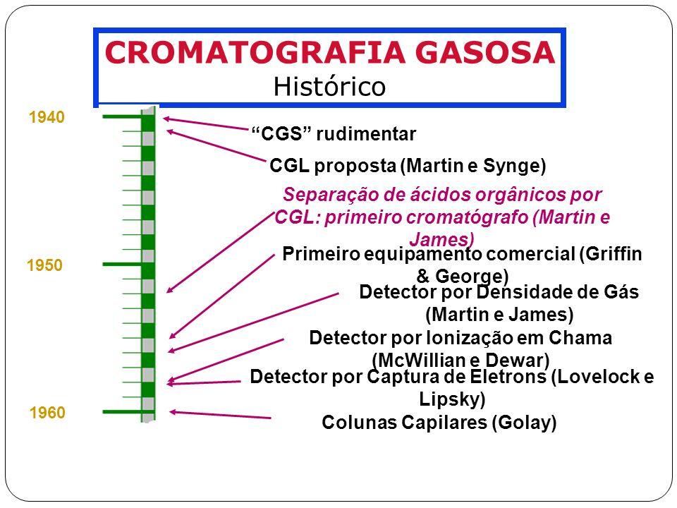 FASES ESTACIONÁRIAS Famílias de FE Líquidas SILICONES (polisiloxanas) As FE mais empregadas em CG.