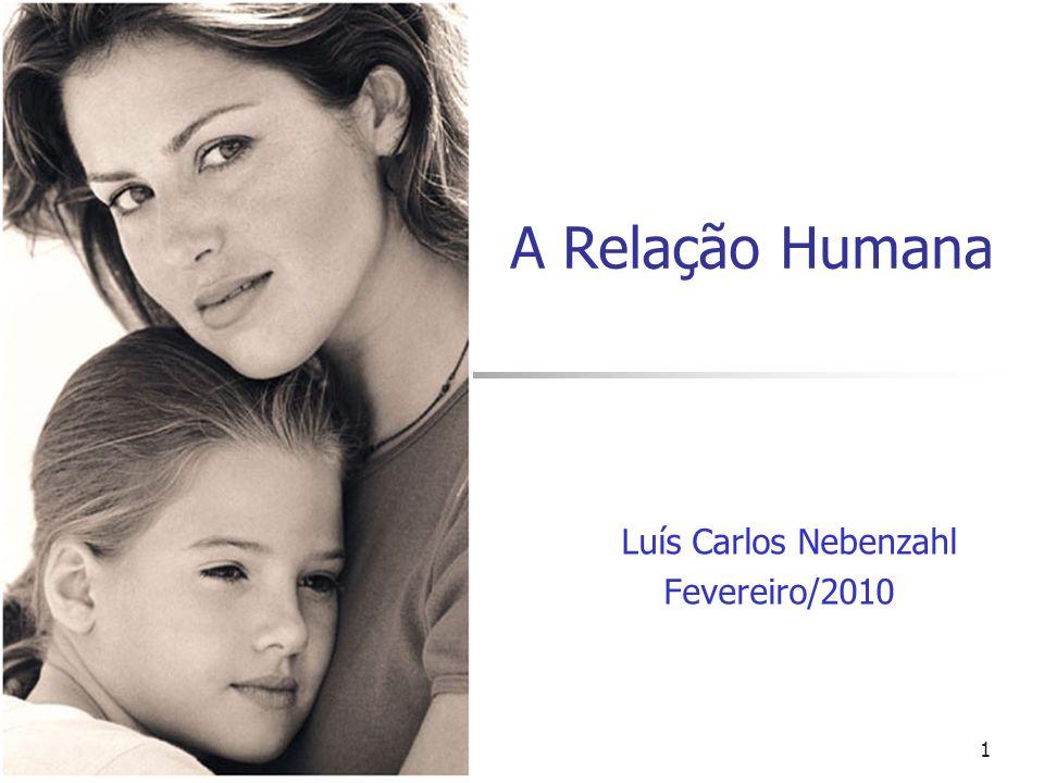A Relação Humana Luís Carlos Nebenzahl Fevereiro/2010 1