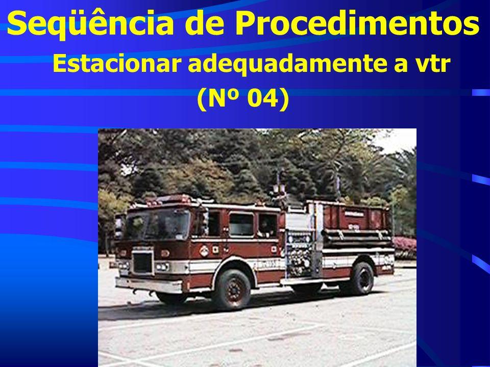 Seqüência de Procedimentos Estacionar adequadamente a vtr (Nº 04)