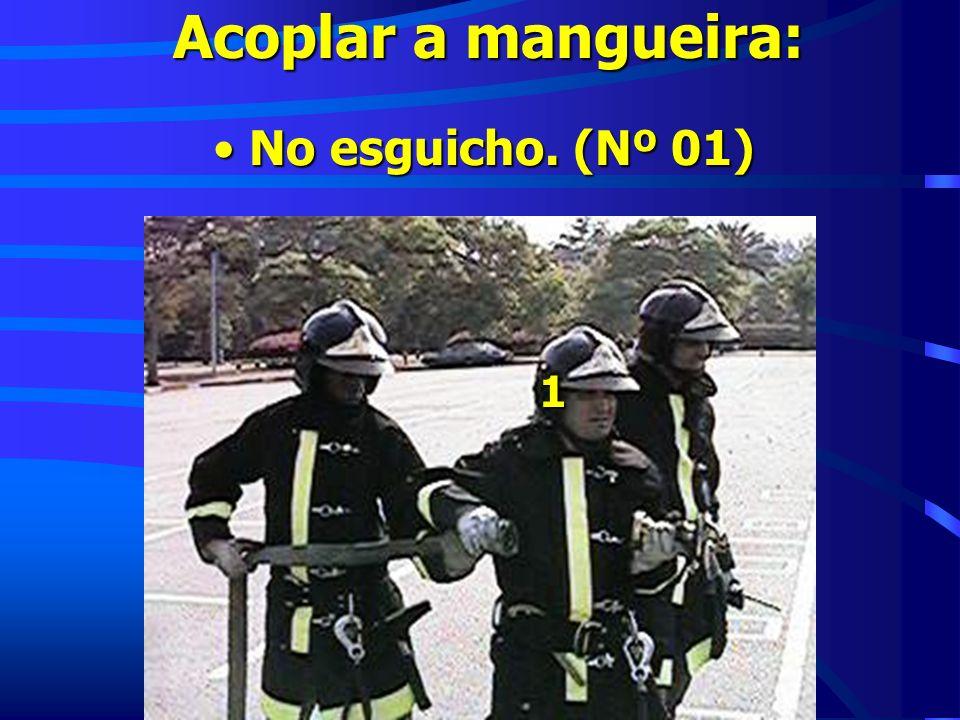 Acoplar a mangueira: No esguicho. (Nº 01) No esguicho. (Nº 01) 1