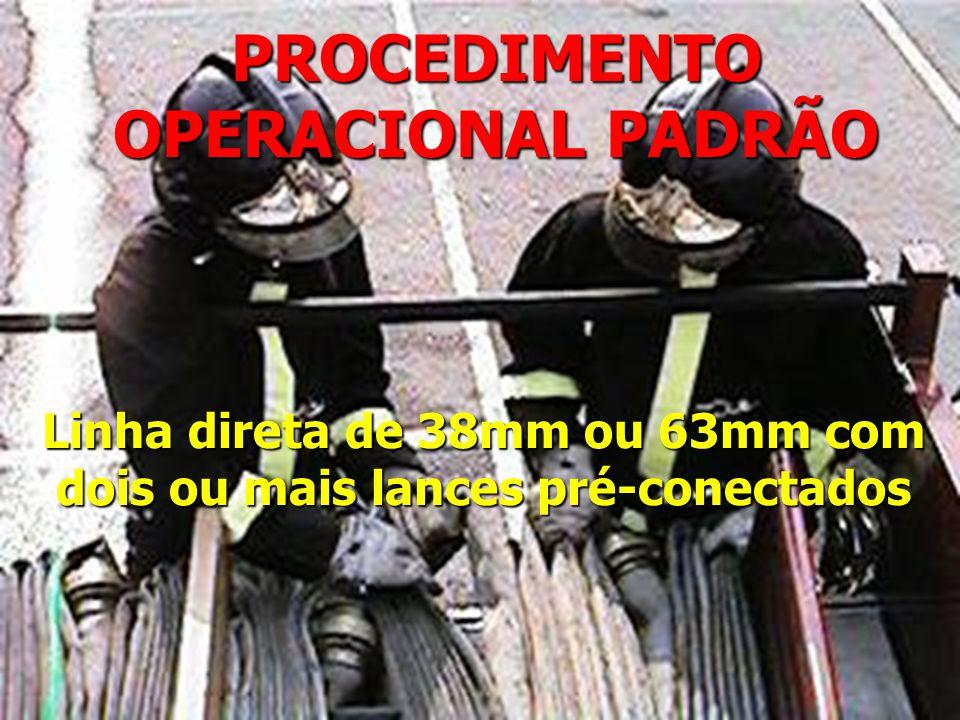 PROCEDIMENTO OPERACIONAL PADRÃO Linha direta de 38mm ou 63mm com dois ou mais lances pré-conectados