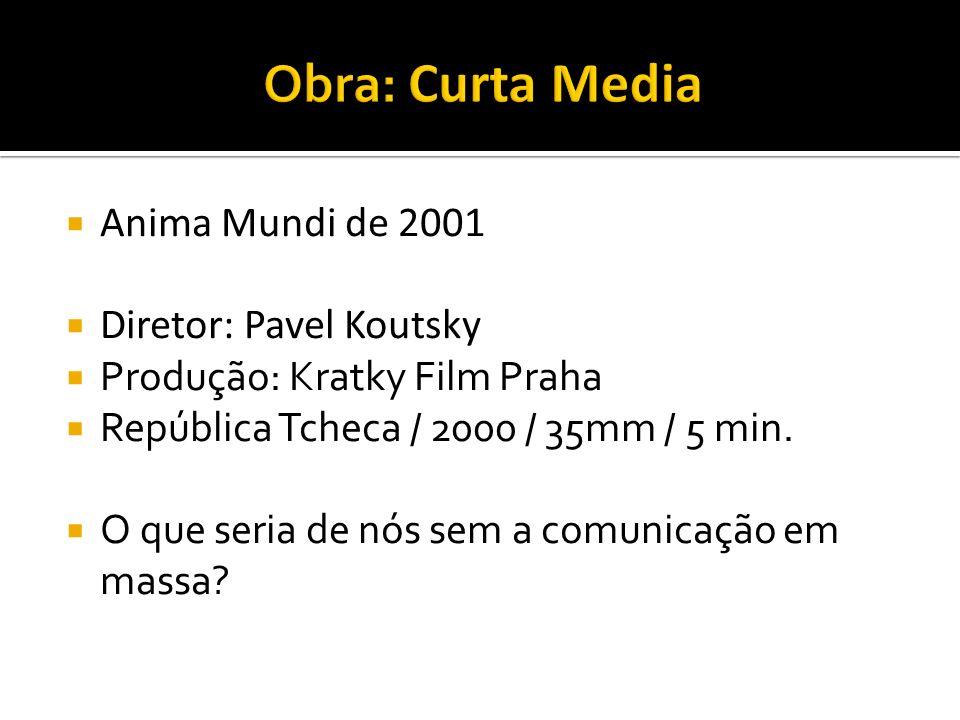 Anima Mundi de 2001 Diretor: Pavel Koutsky Produção: Kratky Film Praha República Tcheca / 2000 / 35mm / 5 min. O que seria de nós sem a comunicação em