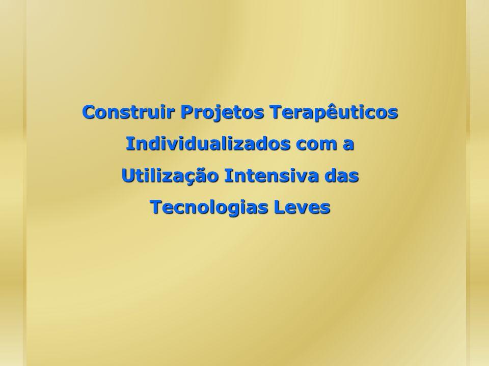 Construir Projetos Terapêuticos Individualizados com a Utilização Intensiva das Tecnologias Leves