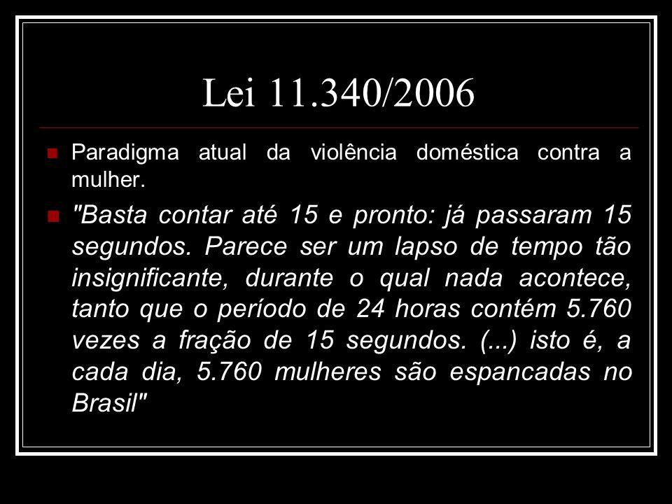 Lei 11.340/2006 Paradigma atual da violência doméstica contra a mulher.