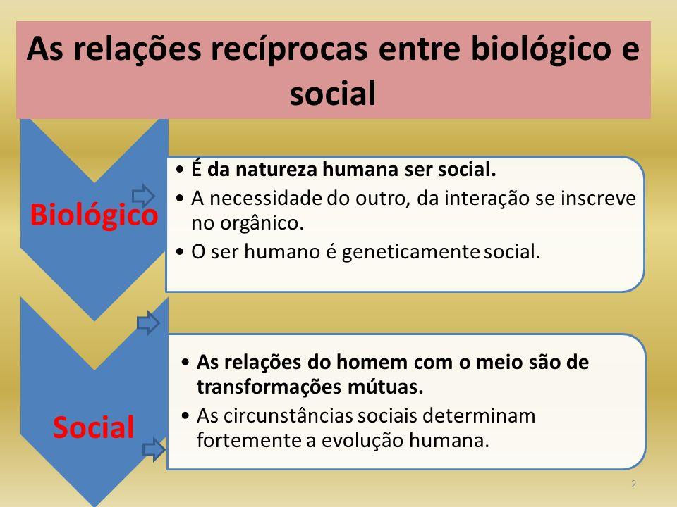 2 Biológico É da natureza humana ser social.