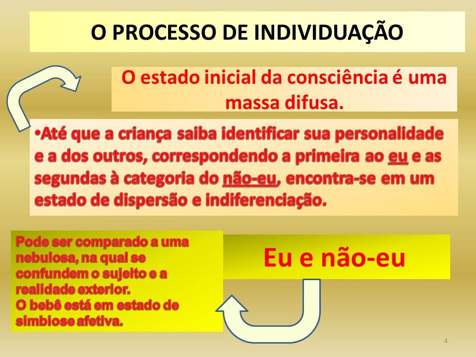 4 Eu e não-eu O PROCESSO DE INDIVIDUAÇÃO O estado inicial da consciência é uma massa difusa.