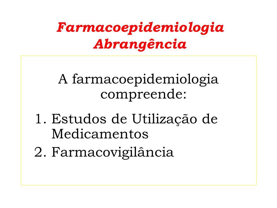 Estudos de utilização de medicamentos (EUM) EUM abordam a comercialização, a distribuição, a prescrição, a dispensação e o uso de medica- mentos na sociedade, e suas conse- qüências sanitárias, sociais e econômicas.