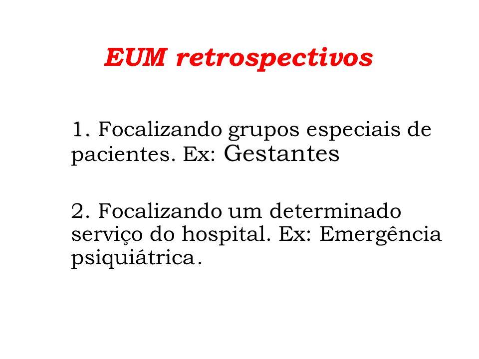 EUM retrospectivos 3.3. Focalizando o consumo anual de medicamentos.