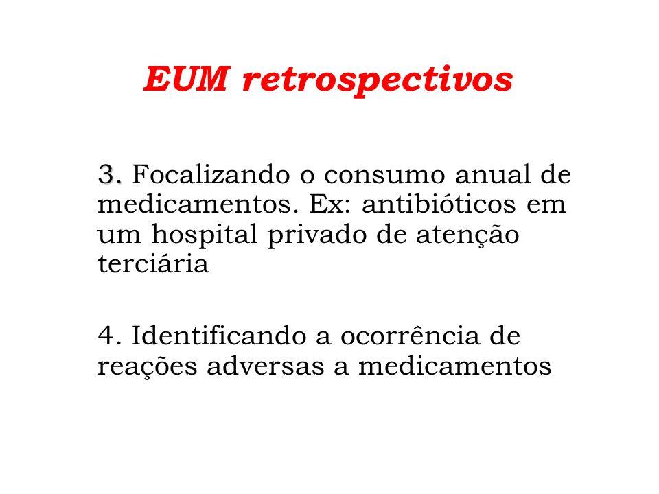 EUM prospectivos avaliando internações completas 1.Grupos especiais de pacientes a.
