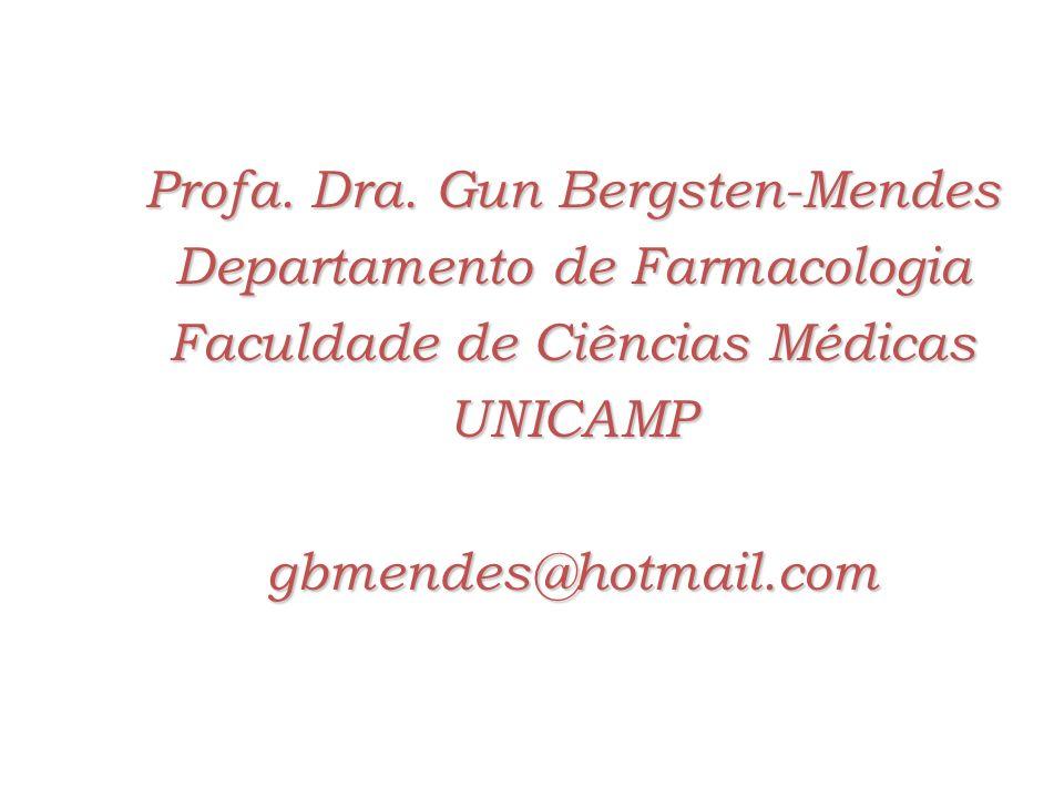 Profa. Dra. Gun Bergsten-Mendes Departamento de Farmacologia Faculdade de Ciências Médicas UNICAMPgbmendes@hotmail.com