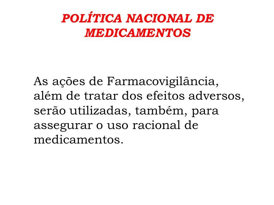 POLÍTICA NACIONAL DE MEDICAMENTOS.