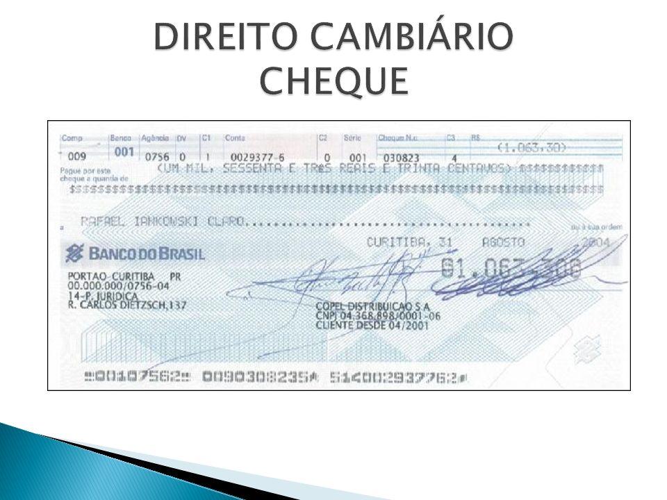 Cheque para creditar – não pode ser pago em dinheiro, apenas creditado em conta do beneficiário.