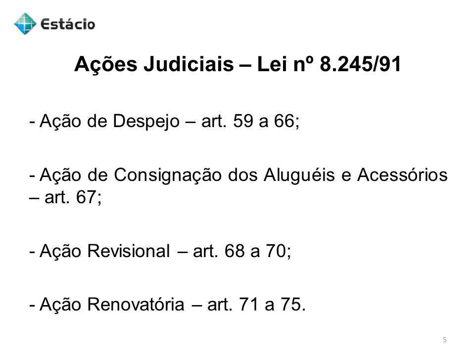 Jurisprudência 26 LOCAÇÃO.PROCESSO CIVIL. AÇÃO DE CONSIGNAÇÃO DE ALUGUÉIS.
