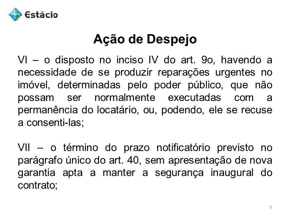 Ação de Revisional de Aluguel 30 A ação revisional de aluguel, que terá o rito sumário, observar-se-á o seguinte: I - além dos requisitos exigidos pelos arts.