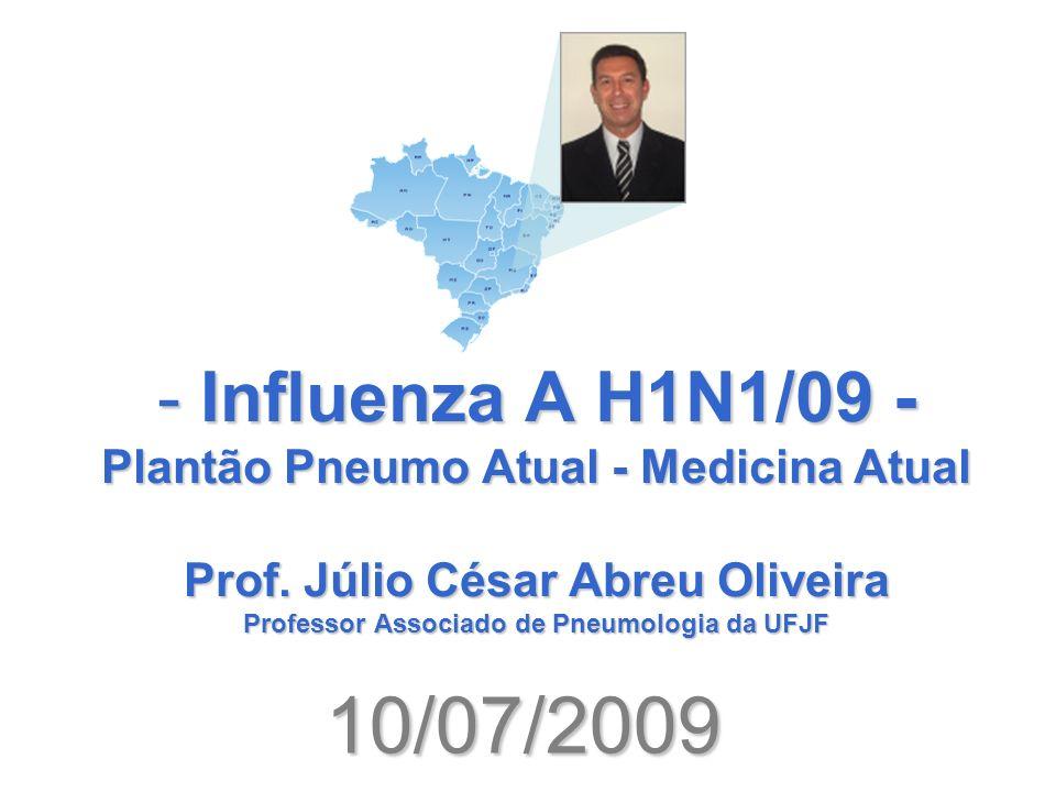 1 – EPIDEMIOLOGIA A Organização Mundial de Saúde (OMS), em 11 de junho de 2009, decidiu elevar o nível de alerta epidemiológico para a influenza A H1N1, inicialmente conhecida como gripe suína, para o nível 6, grau máximo, que indica que estamos frente a uma verdadeira pandemia desta doença.