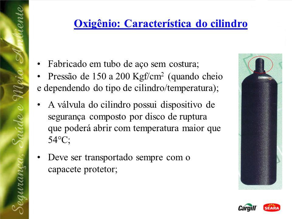 Oxigênio: CUIDADOS NO MANUSEIO - O Oxigênio e equipamentos oxicombustíveis NÃO podem ter contatos com: GRAXAQUEROSENETINTAÓLEO