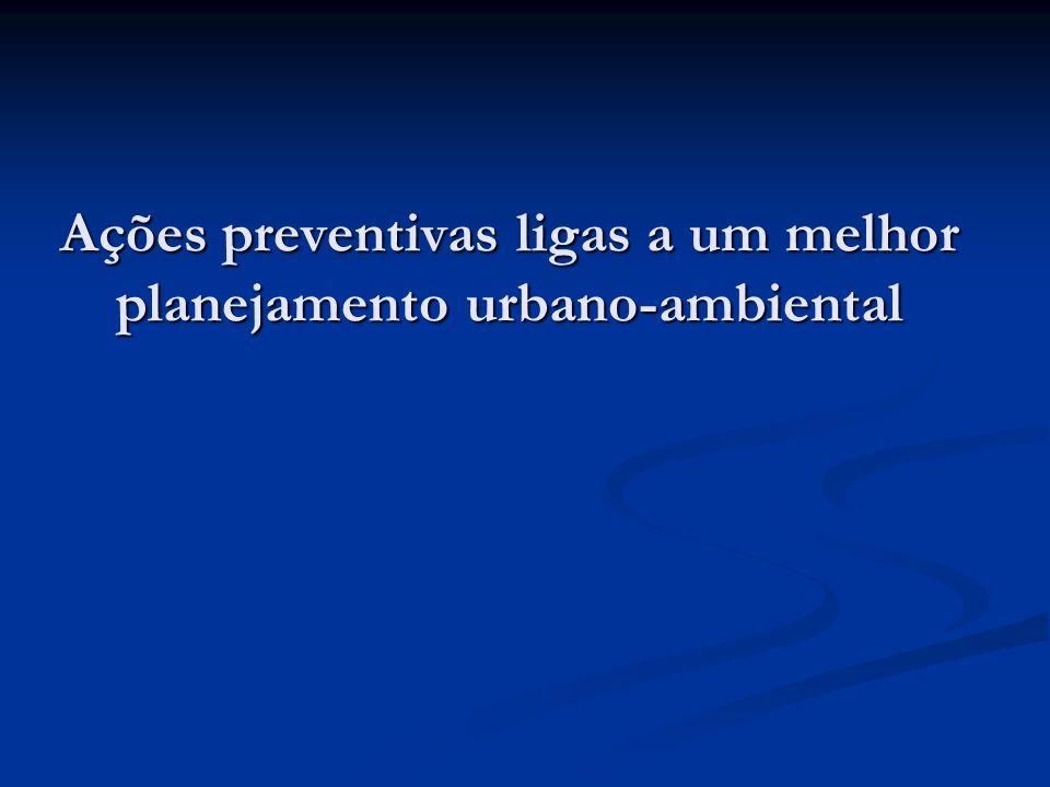 Ações preventivas ligas a um melhor planejamento urbano-ambiental