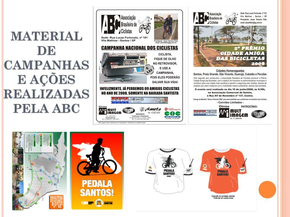 MATERIAL DE CAMPANHAS E AÇÕES REALIZADAS PELA ABC