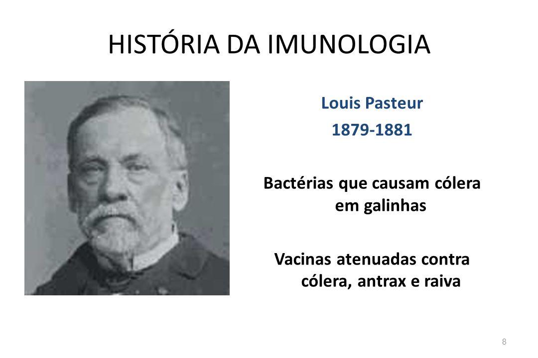 Sistema Imune Adaptativo Consiste de...– Linfócitos e os seus produtos, i.e., anticorpos.