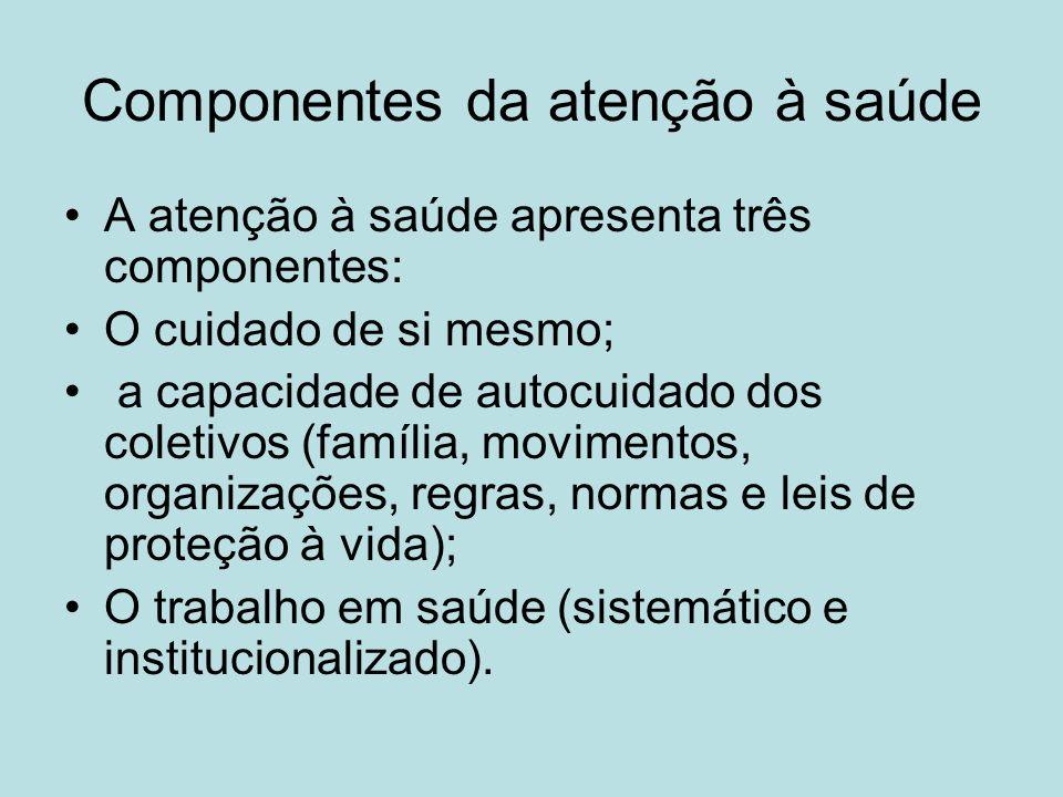 Modalidades do trabalho em saúde Clínica; Saúde Coletiva (Pública).