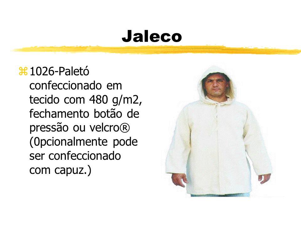 Jaleco z1026-Paletó confeccionado em tecido com 480 g/m2, fechamento botão de pressão ou velcro® (0pcionalmente pode ser confeccionado com capuz.)