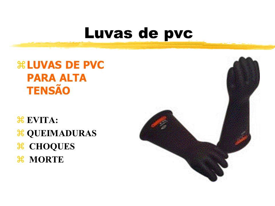 Luvas de pvc zLUVAS DE PVC PARA ALTA TENSÃO zEVITA: zQUEIMADURAS z CHOQUES z MORTE