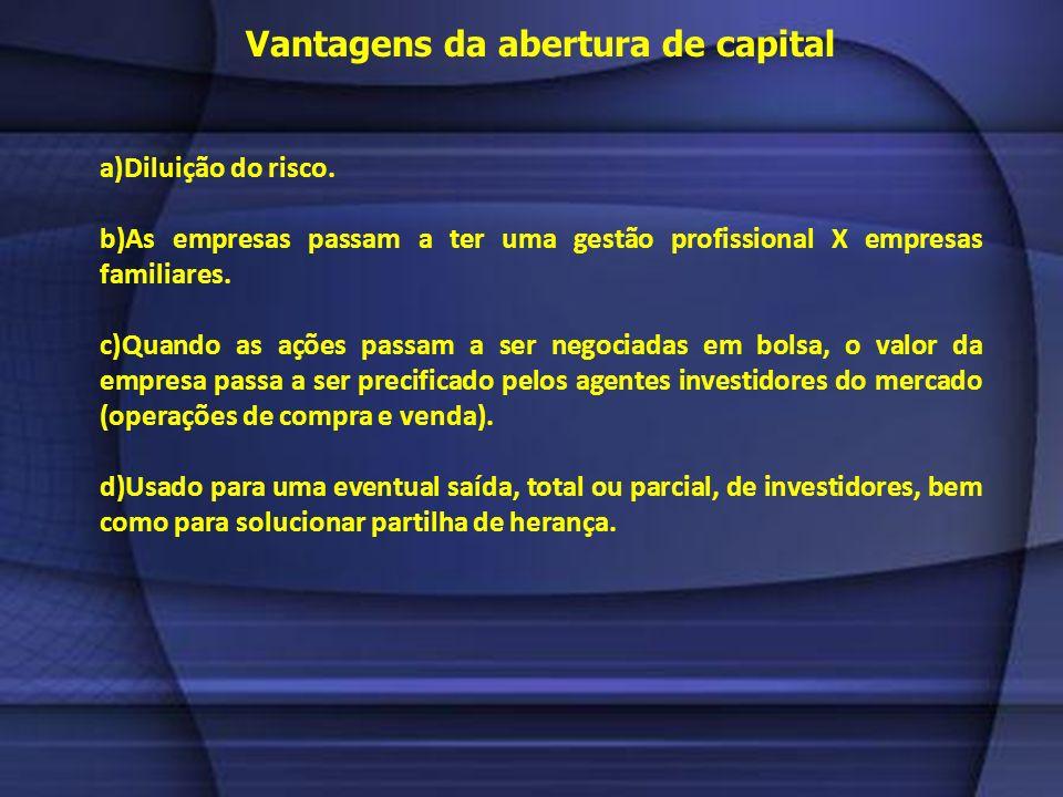 Abertura de capital CONDIÇÕES PARA QUE A EMPRESA POSSA MANTER SUA CONDIÇÃO DE COMPANHIA ABERTA E NEGOCIADA EM BOLSA: a)Relatório da administração, dem