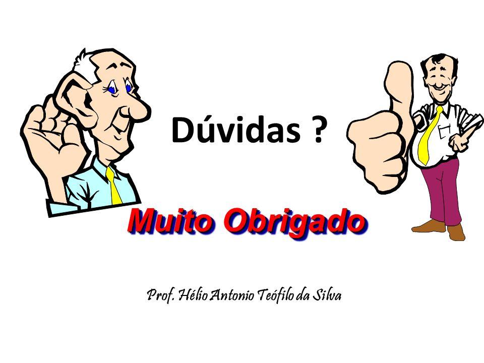 Dúvidas ? Prof. Hélio Antonio Teófilo da Silva Muito Obrigado