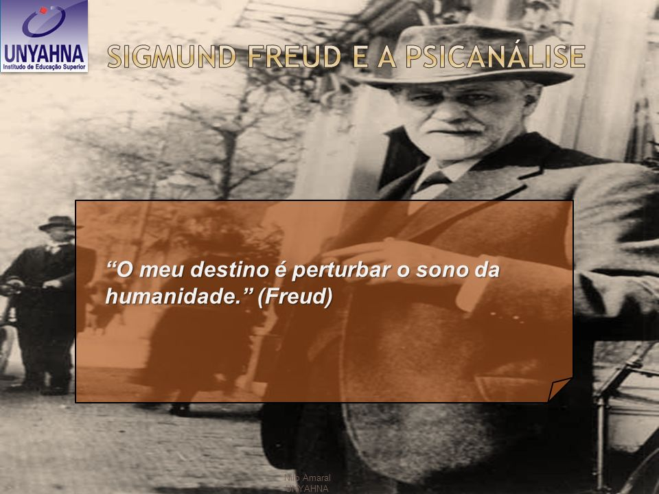 Nilo Amaral UNYAHNA O meu destino é perturbar o sono da humanidade. (Freud)