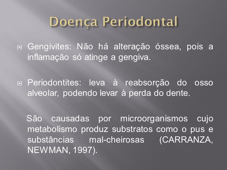 A progressão da doença periodontal é acelerada quando associado ao tabagismo; A doença periodontal é mais exarcebada nos fumantes que não apresentam higiene adequada; Os efeitos vasoconstritores da nicotina propiciam o desenvolvimento da doença periodontal;