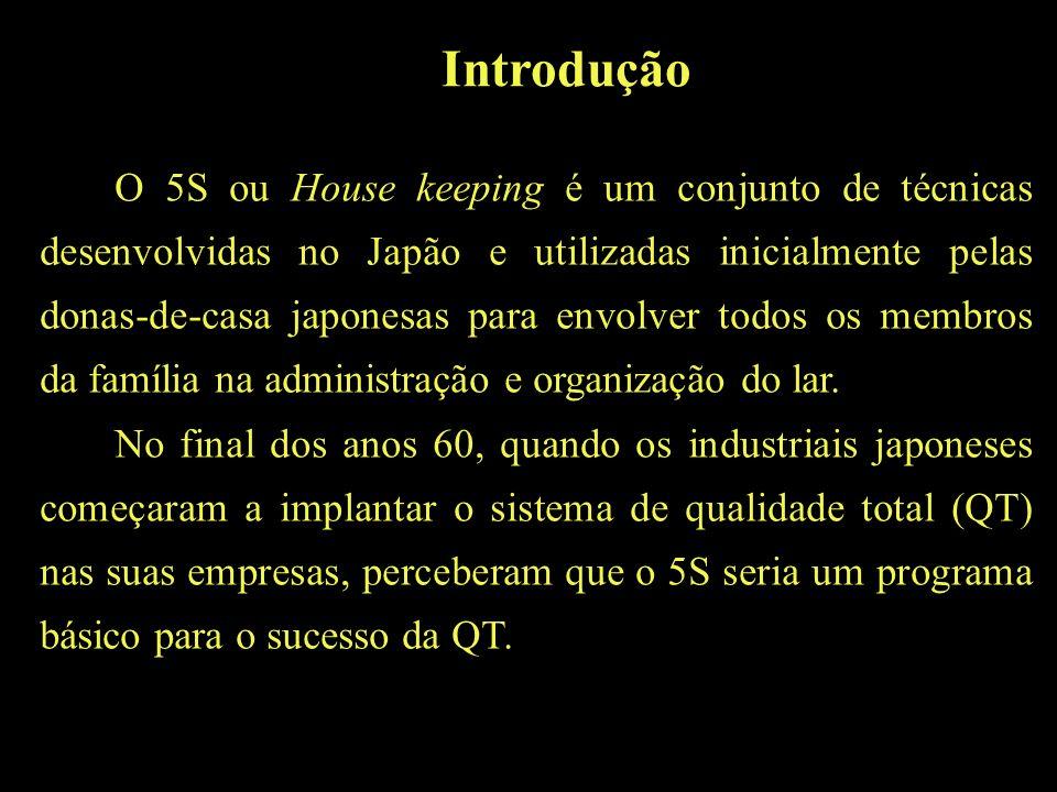 O 5S ou House keeping é um conjunto de técnicas desenvolvidas no Japão e utilizadas inicialmente pelas donas-de-casa japonesas para envolver todos os membros da família na administração e organização do lar.